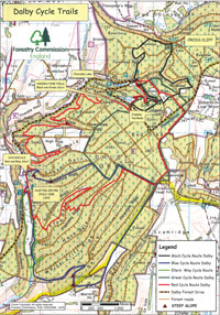 Dalby Forest Map Dalby Forest trails, older MTB maps Dalby Forest Map